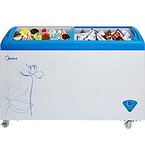 美的(Midea)336升 冷藏冷冻转换冰柜 商用冷柜 卧式展示柜 节能省电(美的蓝)SD/SC-336HKMA