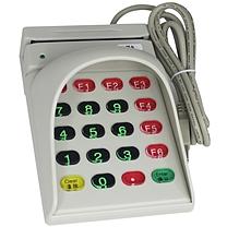 睿者易通 witeasy 睿者易通(WITEASY)F802 磁卡读卡器会员卡 刷卡器磁卡阅读器 白色 带键盘密码保护盖刷卡器 双向读取磁条 防窥板带键盘磁卡读卡器