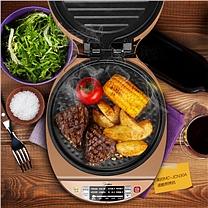 美的(Midea)电饼铛家用双面加热可调火力智能悬浮速脆煎烤机多功能早餐机JCN30A