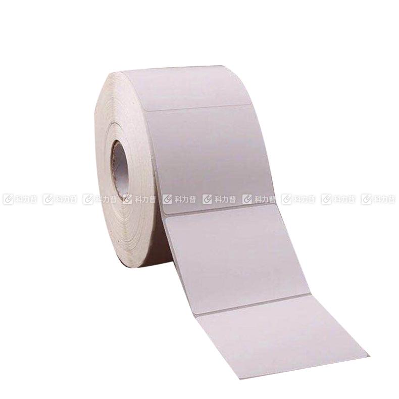 70*63MM 不干胶标签铜版纸 横版单排 卷芯25mm 白色 600张/卷  (DC)(苏州链接)