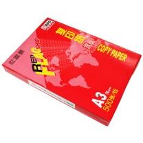 红旗舰 复印纸 A3 (白色) 500张/包 4包/箱