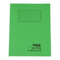 益而高 Eagle 纸制单片夹 3001P10A A4 (绿色) 20片/包