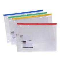 远生 Usign 票证透明拉边袋 US-F56 A4 (红色、蓝色、黄色、绿色) (颜色随机)