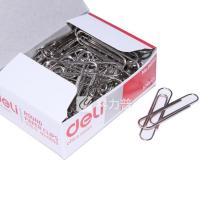 得力 deli 回形针 0050 50mm (银色) 100枚/盒