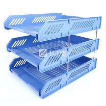 益而高 Eagle 三层文件盘 9323 (蓝色) 16个/箱