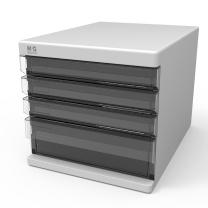 晨光 M&G 四层无锁文件柜 ADM9529516 (灰色)