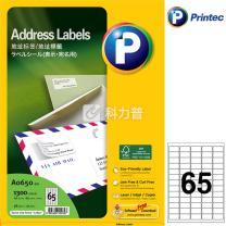 普林泰科 printec 地址打印标签 A0650-20 65分 38.1*21.1mm  20页/包