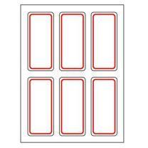 卓联 自粘性标签 ZL15 6枚*12 25*53mm (红色) 12张/包