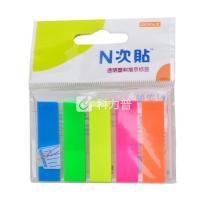 N次贴 Stick 'N 透明塑料 指示标签 34013 45*12mm*5 (荧光5色) 20页/条 5条/包