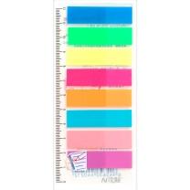 N次贴 Stick 'N 透明塑料 指示标签 34021 45*12mm*8 (荧光8色) 10页/条 8条/包