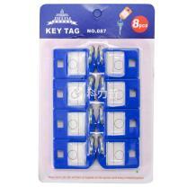 杰丽斯 钥匙牌 087 40*27mm (蓝色) 8个/ 套