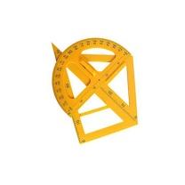 国产 教学用具 s01  直尺 双三角尺 量角器4件套(带把手)