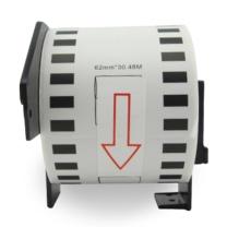 普贴 不干胶标签纸 DK-22205 62mm*30.48m  适用兄弟标签机