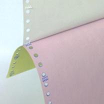 同立 压感纸 241mm  三联白红黄 不等分,不撕边