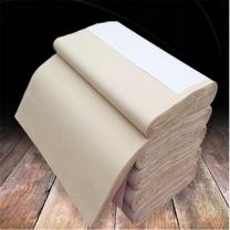 万事达 半生熟元书纸宣纸 50*240cm  100张/卷 纯竹浆八尺屏仿古加厚毛边纸书法练习
