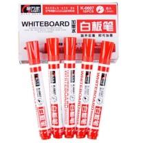 金万年 K-0607 梅花塞循环 加墨白板笔 红色 单位:盒