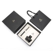 晨光 M&G 明尖墨水笔套装(1支钢笔+1瓶墨水+礼品盒) HAFP0918 F尖 (黑色笔杆)