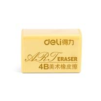 得力 deli 4B美术橡皮200A 7535 42*26*17mm (黄色) 30块/盒
