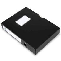 得力 deli 粘扣档案盒 5603 A4 55mm (黑色) 36个/箱