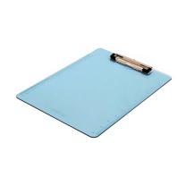 得力 deli 透明板夹 9256 A4 (蓝色、灰色颜色随机) 20个/盒