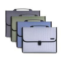 得力 deli 风琴包 5556 A4 13格 (绿色、蓝色、灰色) (颜色随机)