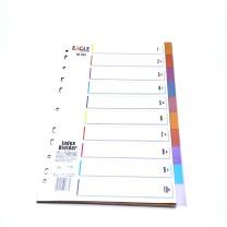 益而高 Eagle 胶质数字1-10分类纸 1203 (彩色) 10页/套