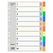 齐心 IX902 A4 11孔 十色 1-10数字PP索引纸 配(单位:套)