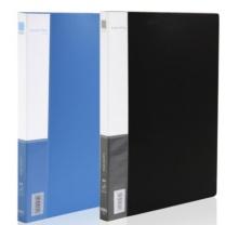 得力 deli 文件夹 A4单强力夹+插袋 黑色 5301 A4 (黑色、蓝色)