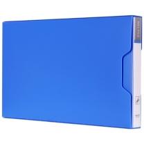 得力 deli 增值税票据夹 5355 票据 背宽18mm (蓝色) 24个/包