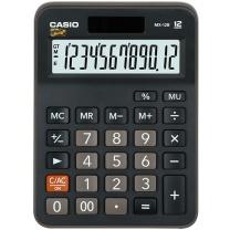 卡西欧 CASIO 12位数字显示办公计算器 MX-12B 小号  10个/盒 (新老包装更替)