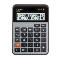 卡西欧 CASIO 12位数字显示金属面板办公计算器 MX-120B 小号