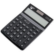卡西欧 CASIO 魅雅系列大型计算器 DW-200TW-BK (晶砂黑) 10个/盒