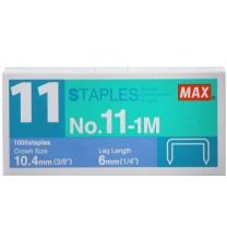 美克司 MAX 订书针 NO.11-1M  10盒/包 (适用于订书机HD-11FLK)