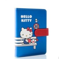 广博 A6凯蒂猫皮面笔记本 KT81030 148*105mm (蓝色) 128张/本