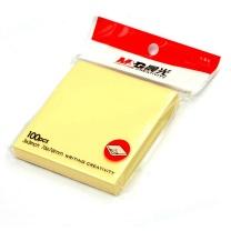 晨光 M&G 优事贴自粘便条纸 YS-03 AS33A10110 76*76mm (黄色) 4本/包 100页/本
