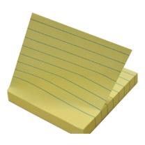 N次贴 Stick 'N 带横线条便条纸 31073 76*76mm (黄色) 100页/本