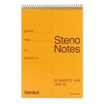 渡边 Gambol 螺旋装订笔记本 S6090 6*9 (橙黄色) 80页/本 6本/封