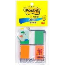 3M 透明塑料 指示标签 680-2PK-2 25*44mm*2 (绿色、橙色) 20页/条 2条/包