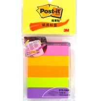 3M 指示标签纸 670-5AN 13*51mm*5 (荧光5色) 100页/条 5条/包