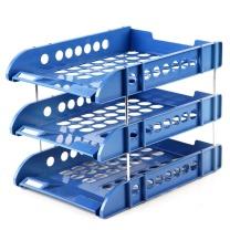 齐心 Comix 三层文件盘 B2133 (蓝色) 10个/箱