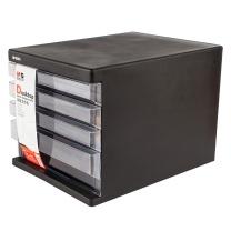 晨光 M&G 四层无锁文件柜 ADM95295 (黑色)