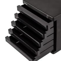 晨光 M&G 五层带锁文件柜 ADM95298 (黑色)