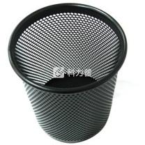 齐心 Comix 圆形耐用铁网笔筒 B2002 (黑色) 12个/箱