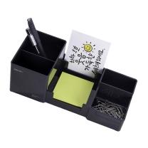 得力 deli 多功能办公笔筒 9118 (黑色) (新老包装替换中,以实物为准)