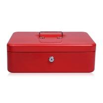 益而高 Eagle 珍宝型手提金库 钱箱 机械锁保险箱 8878 (红色)