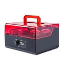 金隆兴 Glosen 密码锁财务印章盒 B8056 (黑红)