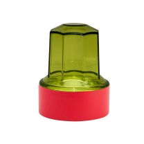 金隆兴 Glosen 圆形印章盒子公章盒印章收纳盒 B8051 (红色)