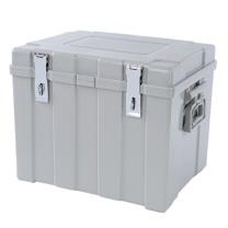 胜威 手提金库 SW-305 47*37*36cm (银灰色) 箱塑钢运钞箱调款箱双扣