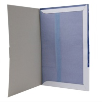得力 deli 薄型复写纸 9376 12K 220mm*340mm (蓝色) 100张/盒
