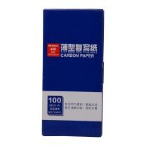 晨光 M&G 复写纸 APYVA608 48100 48K 85mm*185mm (蓝色) 100张/盒